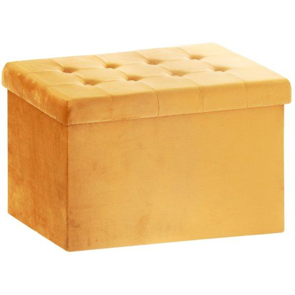 MUSTARD VELVET FOLDING BOX LGE
