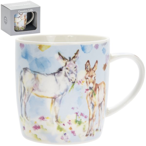 COUNTRY LIFE DONKEYS MUGS