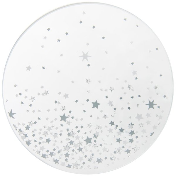 STARS GLITTER CANDLE PLATE 10C