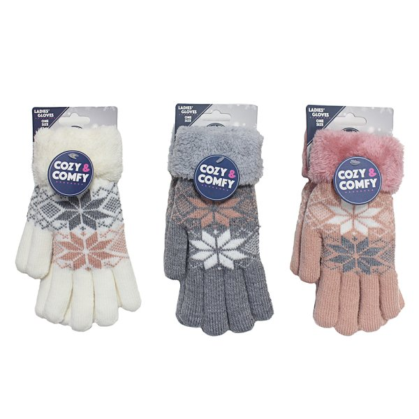 COZY LADY GLOVES 3 ASST