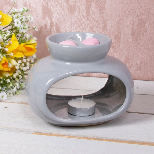 WAX/OIL WARMER ORB GREY