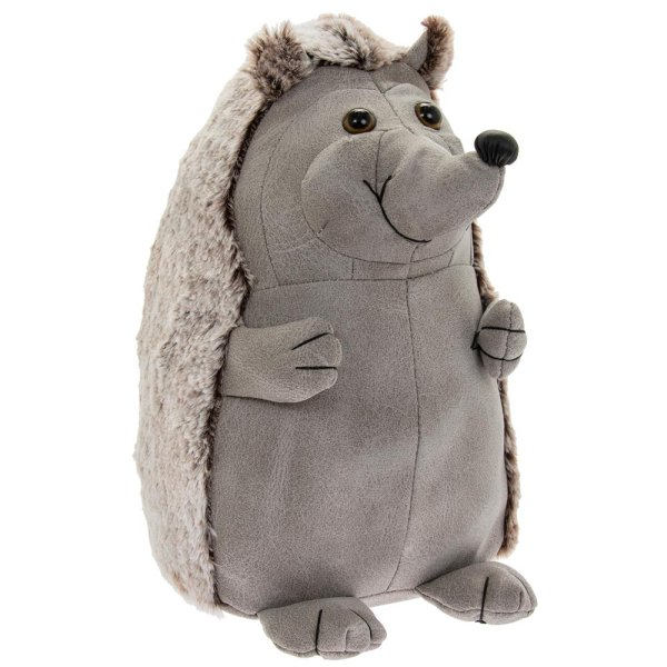 GREY HEDGEHOG DOORSTOP