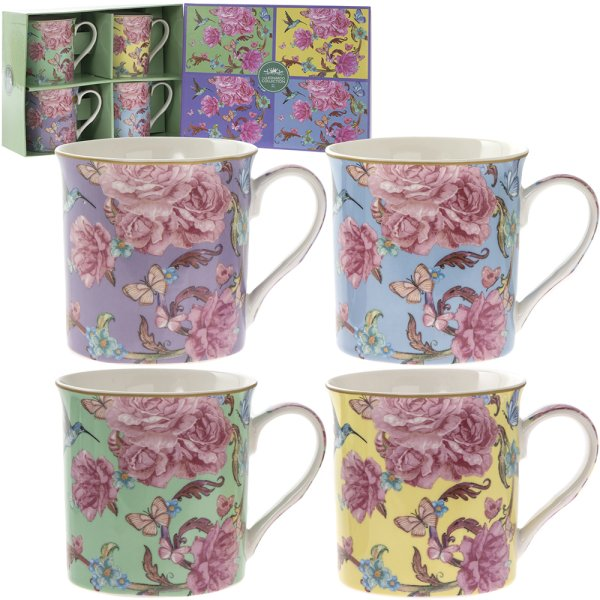ORIENTAL BLOSSOM MUG SET OF 4