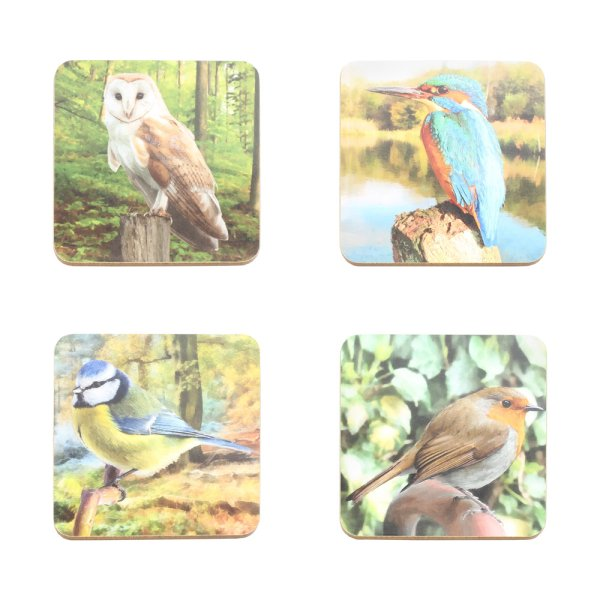 BIRD COASTERS SET OF 4