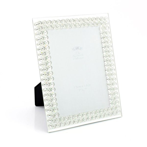 MIRROR DIAMANTE FRAME 5X7""