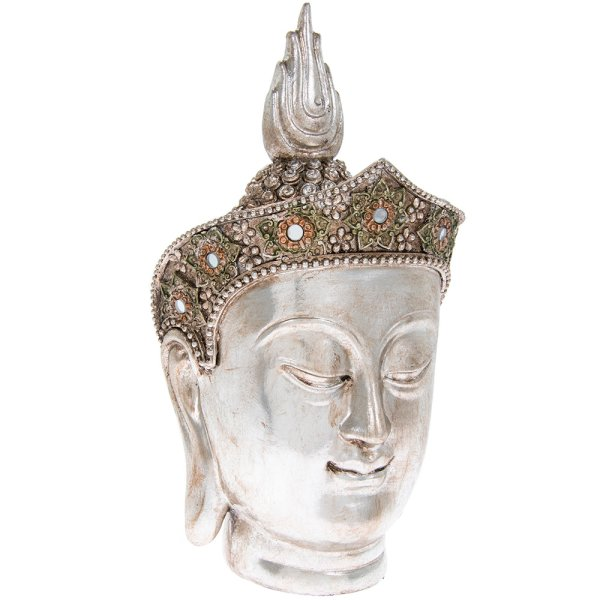 SILVER ART THAI BUDDHA HEAD