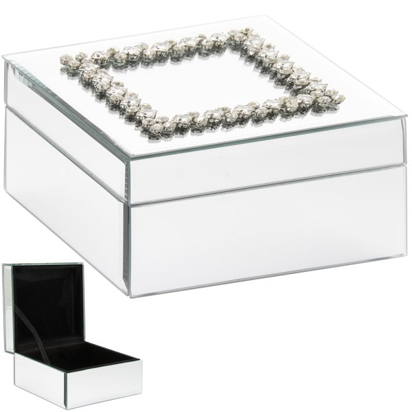 MIRROR DAMANTE JEWELLERY BOX