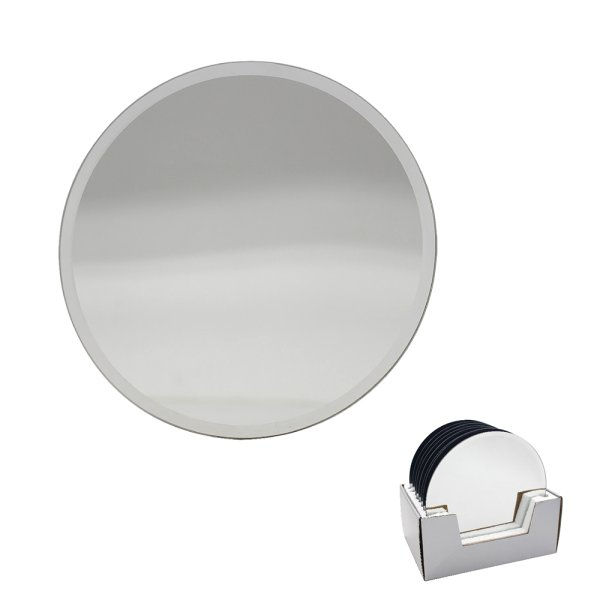 MIRROR CANDLEPLATE 20CM
